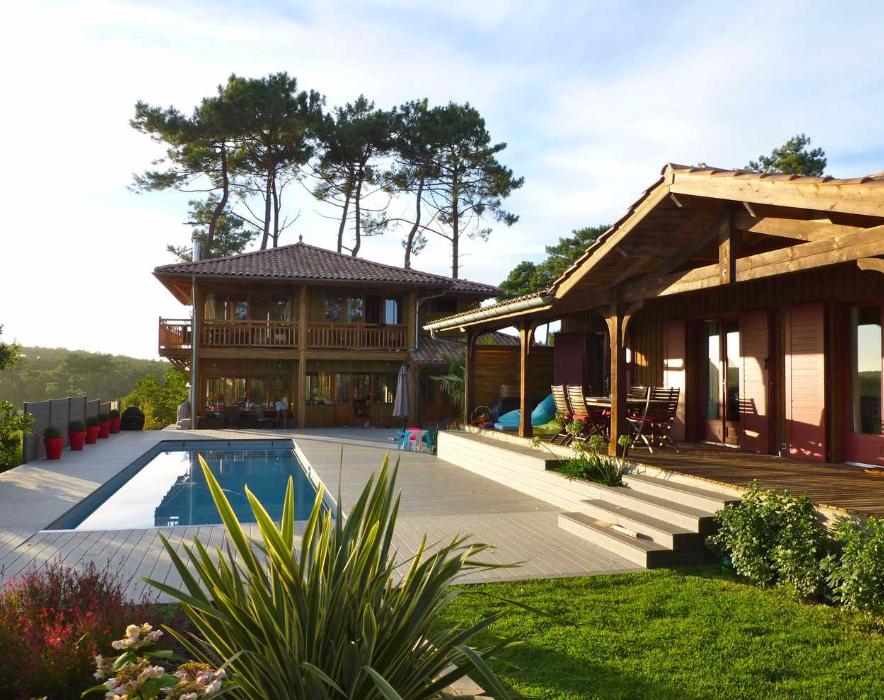 Maison en bois cap ferret cool villa esprit cabane la - Maison en bois cap ferret ...
